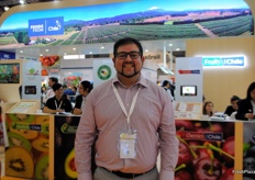 Cristian Parra from Paclife, Chile. Visiting the exhibition to promote their packaging solutions