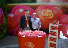 Richard and Steven Leung of Alfa Fruit Packers. Steven works together with his son Richard to set up modern packing facilities in China, they now have two plants, one in Shandong and one in Shaanxi.
