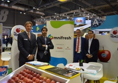 From left to right: Paolo Carissimo, Giacomo Nocentino, Fabio Zanesco and Kevin Au Yeung of Omnifresh.