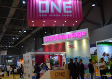 Busy conversations at the booth of ONE.