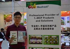 Albert of Maxfresh, his companies' products are used to keep fruits longer fresh.