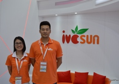 Operation Manager Nina together with Wang Xin Sales Director from Shanghai Ivcsun Industrial Development Co., Ltd.