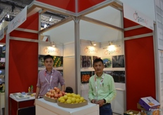 To the right, Mike Pong with his manager from Meishan Crystal Fruits Co., Ltd.