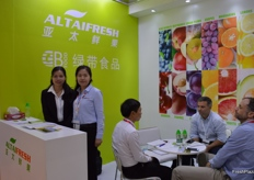 Jade Lee and Yolinda Xia from Guangzhou Green Belt Food Co., Ltd. (Trading as Altaifresh Limited).