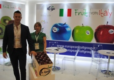 Milena Duberstein and Nicola Detomi from the European Fruit Group, Italy.