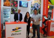 Aziz El Sous, Xiuling Zhu and Robin Anaya from Grupo Athos Peru. The biggest exporter of pomegranates from almost all Southern atmosphere.