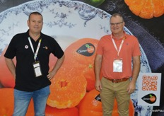 Nico van Steden from Core Fruit with Abraham van Rooyen the owner and inspiration behind the ClemenGold brand.