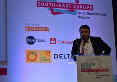"""Branko Bajatovic speaking during ""Emerging potential: new sources of fresh produce in South-east Europe""."""
