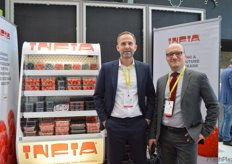 Joop de Vries from Infia/Lin Pac Packaging and Alessandro Mariani at the Infia stand.