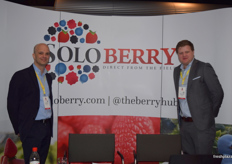 Tom Roger and Robbert Leisink at the Solo Berry stand.