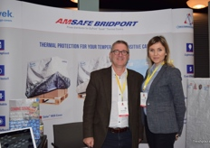 Steve Brabbs from Dupont and Dia Romanowicz from Amsafe.