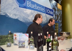 Blueberries from Chile provided tasty blueberry Martinis for passers by.