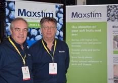 Richard Salvage and Ronald Van Stein at the Maxstim stand.
