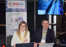 Annabell De Aguiar and Eric Horner at the WECO stand.