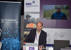 Ed Westerweele, hard at work, at the BBC Technologies stand.