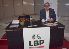 Anton Filippo at the LBP (Logistics Business Partners) stand.