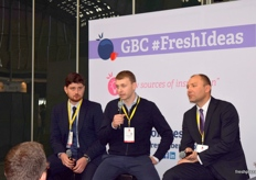 Panalists during the presentation Understanding Ukraine, (from left to right) Taras Bashtannyk, Andrii Borysenko and Andriy Yarmak.