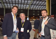 Jacques Luteijn from Growers Packers BV, with José Gandía (CEO)of Fresh Royal, and Diego Pozancos, from Fresh Royal.