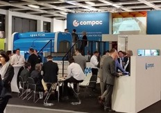 At the Compac stand (New Zealand); Compac remains one of the global technology leaders in fruit sorting and with the recent acquisition by TOMRA, no doubt that it will continue to create solutions in the industry.