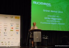 De Grüne Merkur, a prize in the international sector, went to the REWE Group due to their efforts to make the sector sustainable.