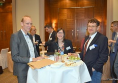 Hans Geling (Schaap Holland), Lea Roussineau (Europlant France) and Vlastimil Rasocha (Medipo Agras)