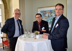 Arnaud Delacour (French Union of Potato Producers UNPT), Francisco Moya (Negonor) and Jan Gottschall (NAO: Dutch Potato Organisation)