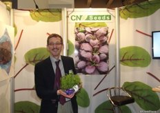 Charles Seddon at CN Seeds, who developed the seed for Innovation Award nomination Living Salads.