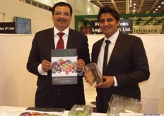 Suhas Sethiya and Swapnil Sethiya from Santosh Packaging, India who produce all kinds of packaging for fruit.