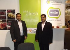 Ankit Bhargava and Samir Sanhavi from AVI Global who produce all sorts of material for packaging as well as packing for fruit and vegetables.