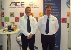 ACE Industrial Supplies were also present with their full range of quality control equipment. Jerry Grower and Tony Smith.