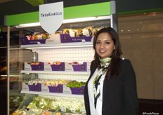 Samreen Ibrihim at the Total produce stand.