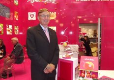Gary Langford from APAL at the Pink Lady stand.