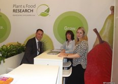 The team from Plan and Food Research, NZ. Roger Bourne, Yvonne McDiarmid and Johanna John.