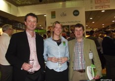 Jan Redpath, Angus Soft Fruit, Clair Hodde, Potato Council and John Gray , Angus Soft Fruit at the UK Pavilion.