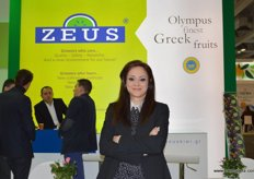 the charming Christina Manossis, General Manager of Zeus Kiwi- Greece