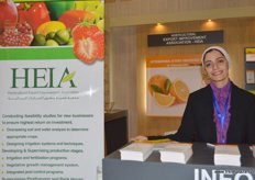 HEIA`s Customer Relation Specialist, Rana Ashour.. HEIA just recently collaborated with Agricultural Export Council (AEC= Egypt) to have the 1st International Citrus, Egypt in November