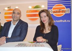 Alik Akhmedov (Branch Director) and Ekaterina Dubneac (Import Manager) of RuziFruit- Russia
