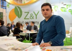 Emil Huseynov from the Import dept. of Z&Y Fruit Company (Russia)