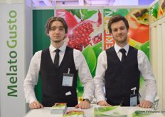 Harrr Bober and Philipp Kaiser of Melato Gusto(Uzbekistan), one of the leading suppliers of environmentally safe and highly selected fruits and vegetables from Republic of Uzbekistan