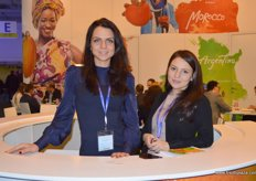 Anna Zarusinskaya (Head of Packaging Dept.) and Darya Parilova (Import Manager) of Nevskaya Co., Moscow- one of Russia's leading operators in the market of fresh produce