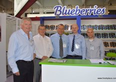 First time exhibitor, the African Blue (Morocco) team with their President, Albert Avi Weizman (middle)