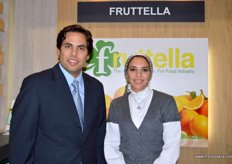 the Sarhan siblings: Ahmed(CEO) with Sherine (Sales and Marketing Director) of Fruttella, Egypt