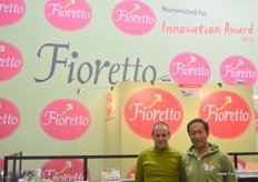Ike Tokita(R), President of Tokita-Japan with Dr.Carlo Vittucci (L). Tokita was once again nominated in Fruit Logistica Innovation Award .. Fioretto as their innovative product