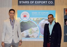 Product Manager , Amr Yassin (l)of Stars of Export(Egypt) with friend Tamer El-Sayed (r)