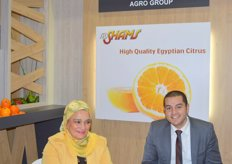 Sumaya Ali, Executive Manager of Al Shams-Egypt with Ahmed Shams, IT Manager