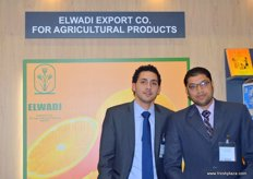 Waleed Ads (Bus. Development Manager) and Mo´men Shehata (Export Manager) of Elwadi Export-Egypt