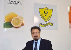 George Ioannides of Amagio Enterprises (Cyprus), the company produces and exports all kinds of citrus, mainly grapefruit white and red, lemons, Mandora, and Valencia oranges