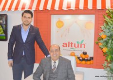 Anil with his father and President of Altun (Turkey), Zeki Altun