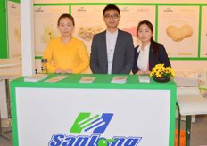Imica shao, Reynold Qi and Vivian Liu of Sanlong-China, a grower, packer and exporter of high-quality fresh vegetable and fruit in China