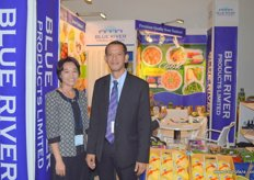 Orakamol Athatamsuntorn (r), General Manager of Blue River Products Limited- Thailand with another representative .. launched their organic products and prepared fruits in 2010 where demand is still increasing